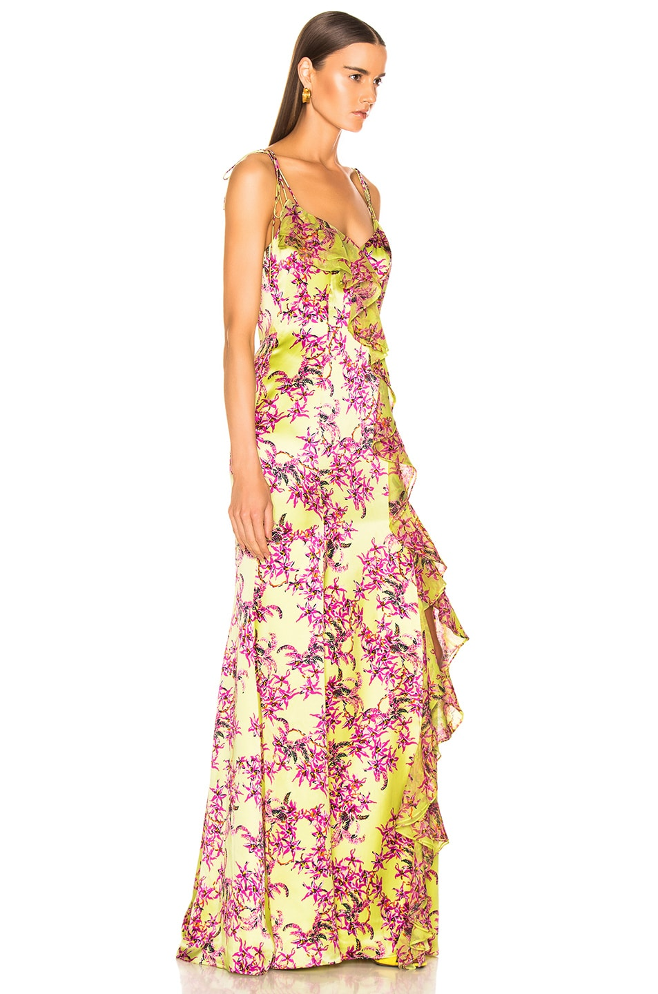 Image 2 of Cinq a Sept Velma Gown in Lemon Grass Multi