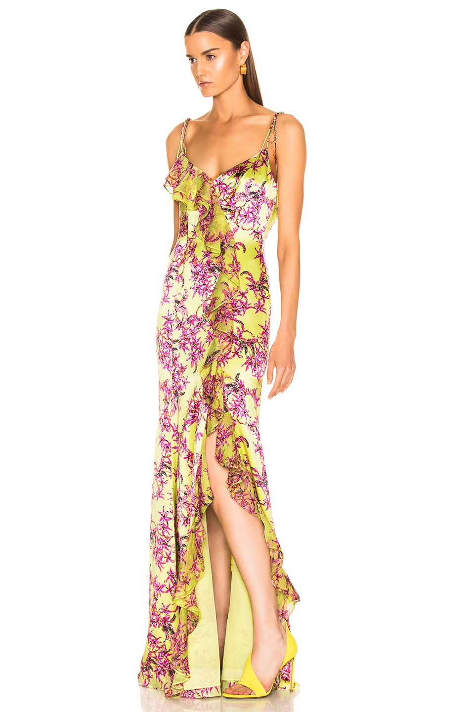 Image 3 of Cinq a Sept Velma Gown in Lemon Grass Multi