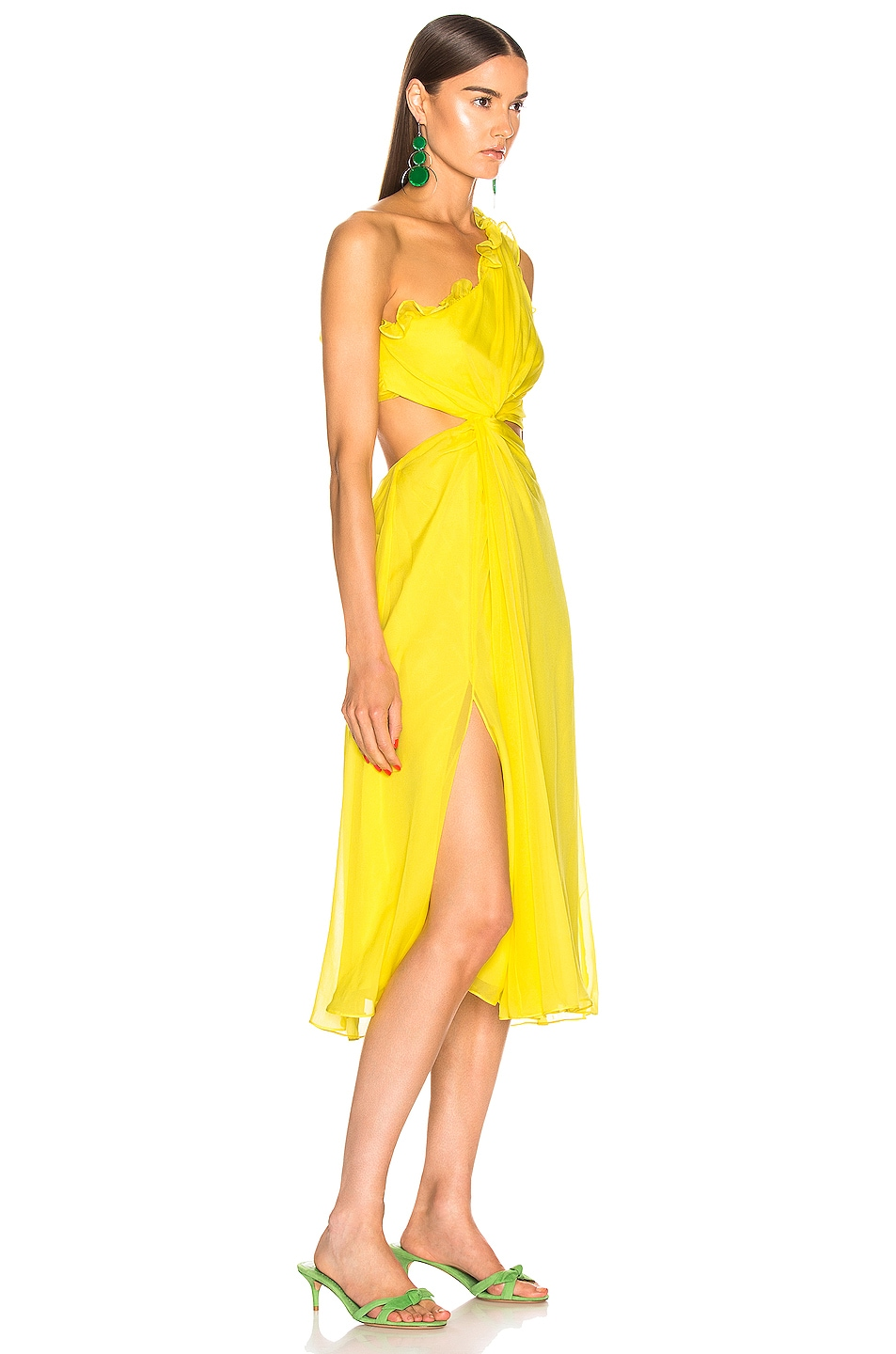 Image 2 of Cinq a Sept Corinne Dress in Blazing Yellow
