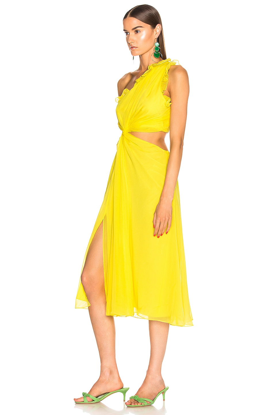 Image 3 of Cinq a Sept Corinne Dress in Blazing Yellow