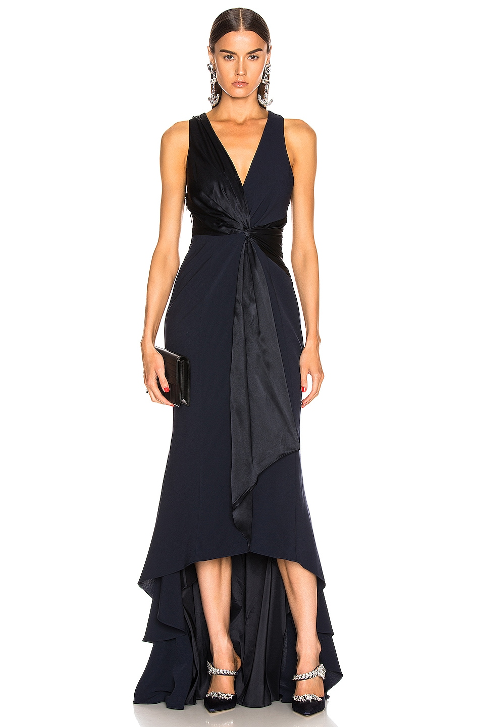 Image 1 of Cinq a Sept Iris Gown in Navy