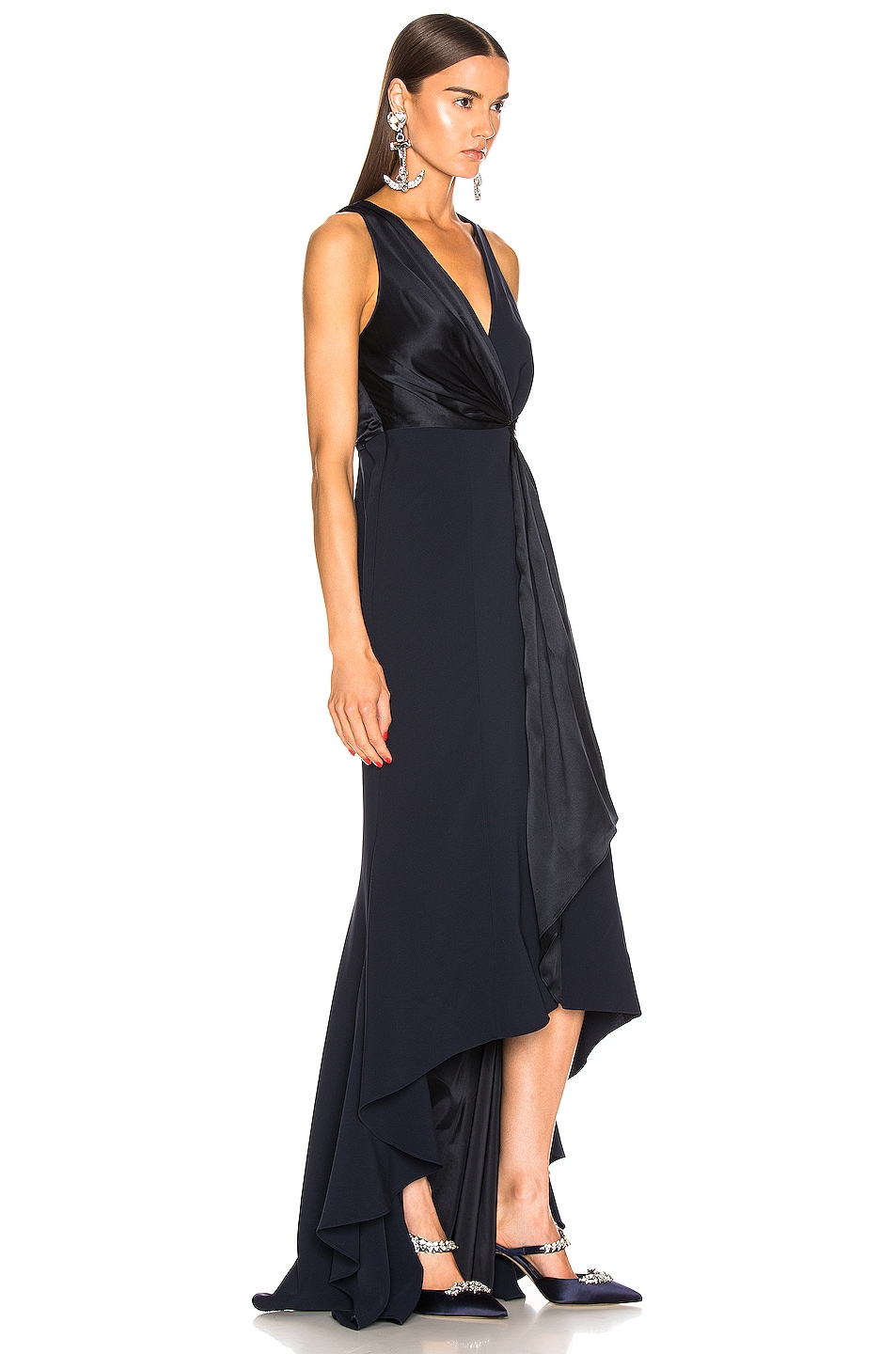 Image 2 of Cinq a Sept Iris Gown in Navy