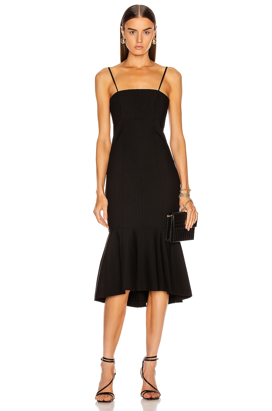 Image 1 of Cinq a Sept Salina Dress in Black