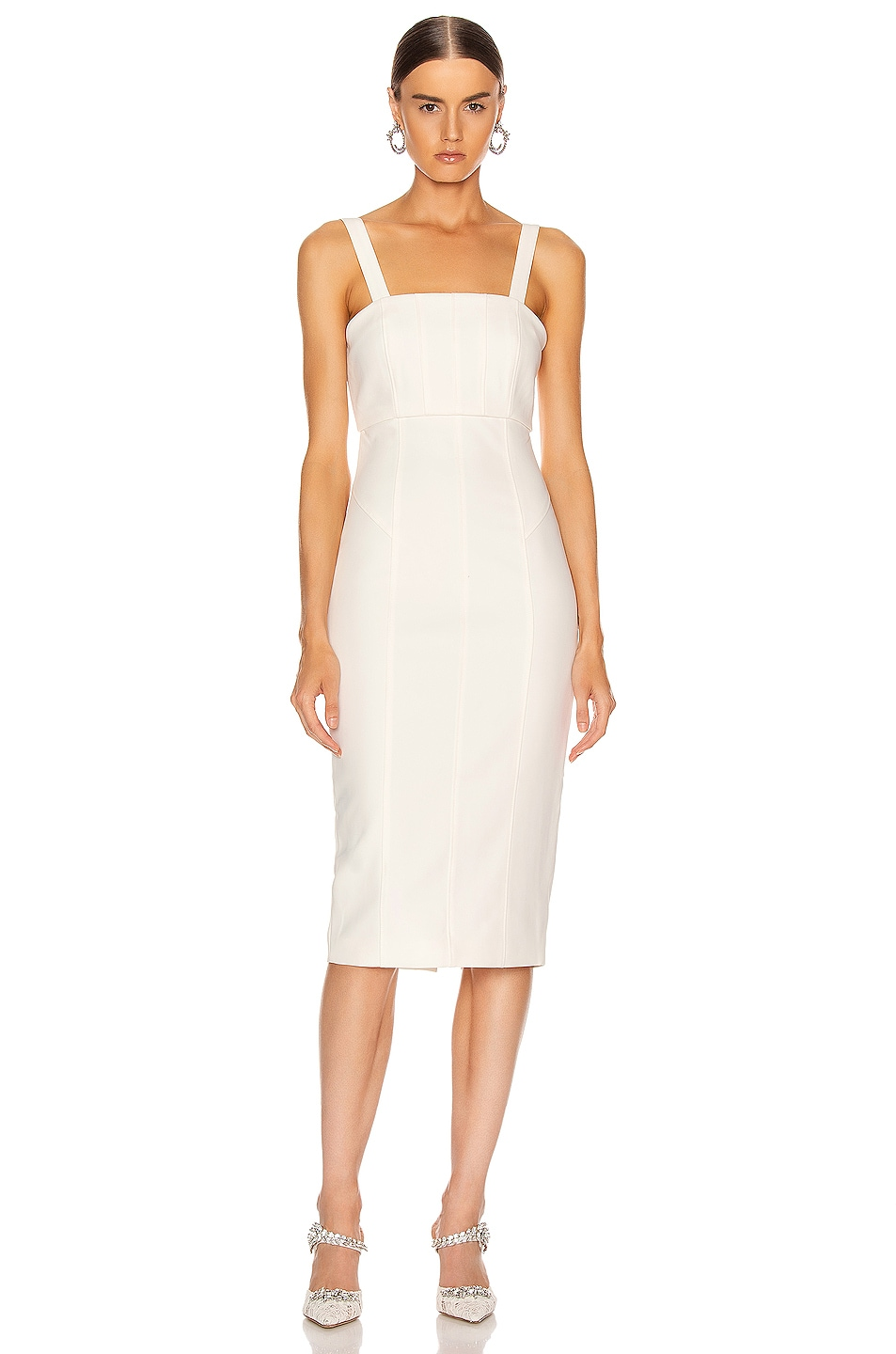 Image 1 of Cinq a Sept Dakota Dress in Ivory