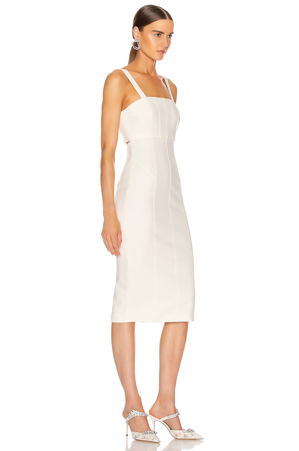 Image 2 of Cinq a Sept Dakota Dress in Ivory