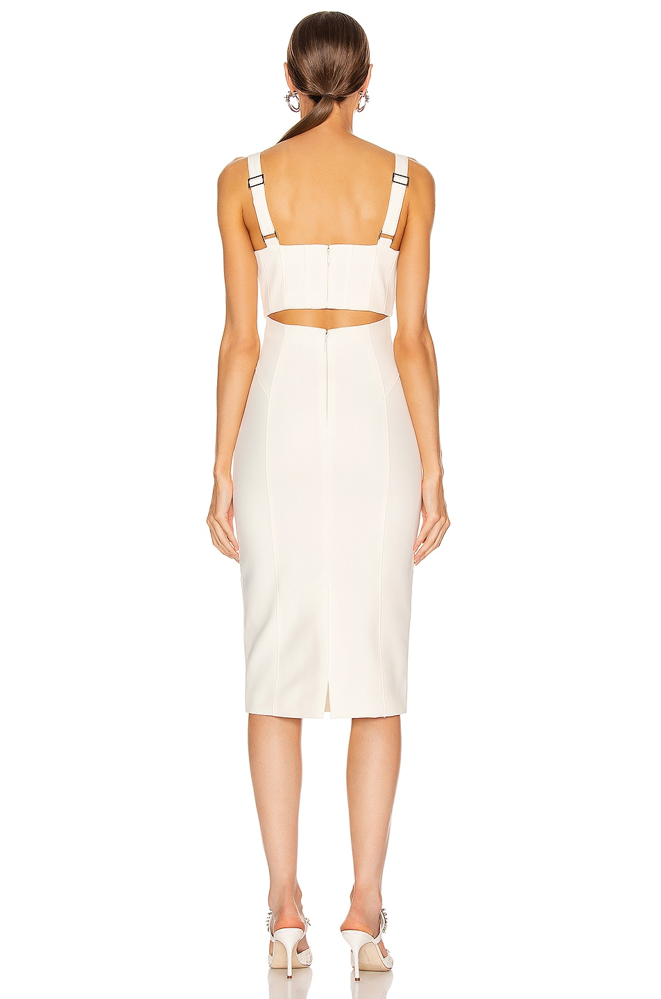 Image 3 of Cinq a Sept Dakota Dress in Ivory