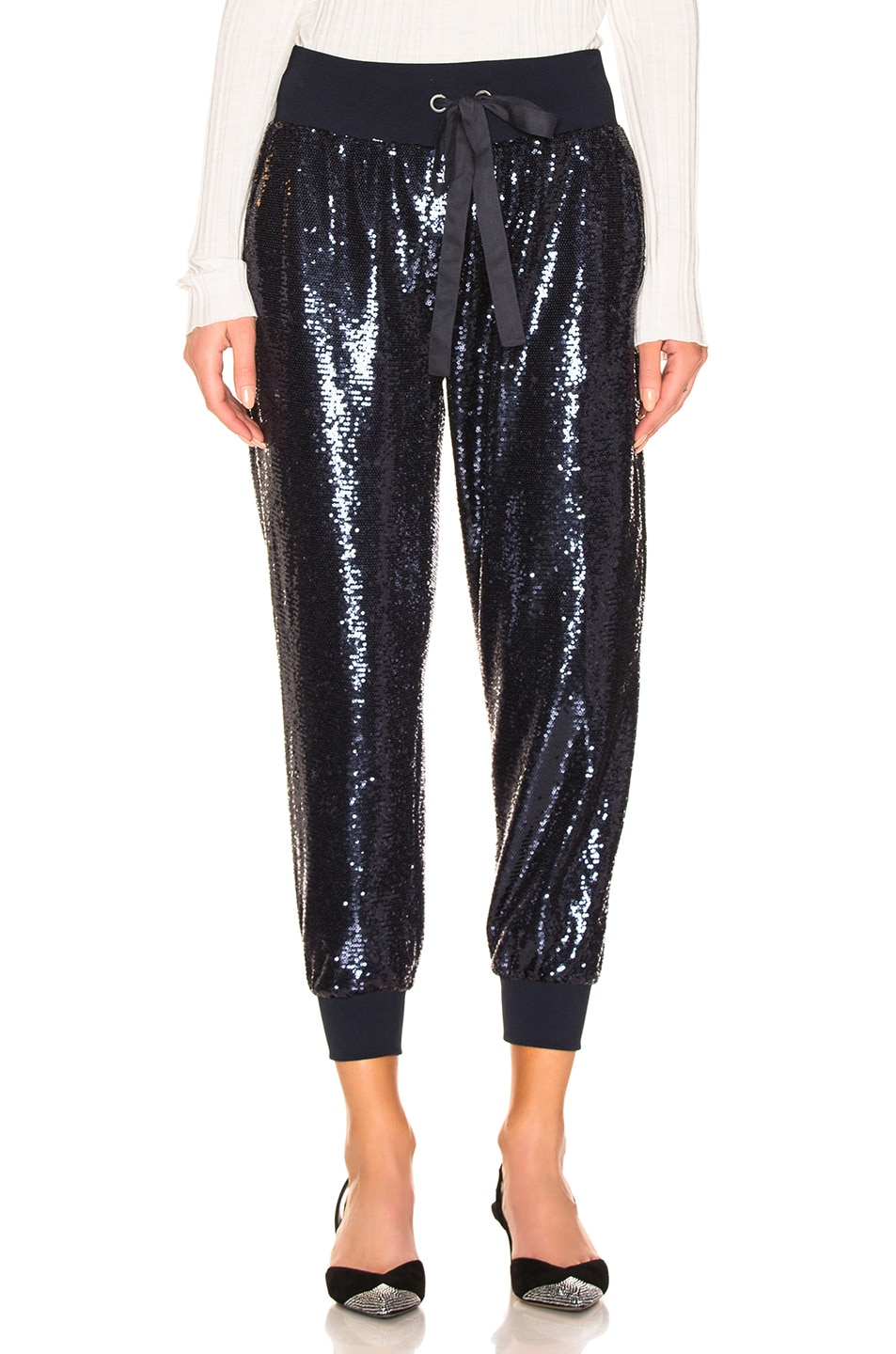 Image 1 of Cinq a Sept Sequin Giles Pant in Navy