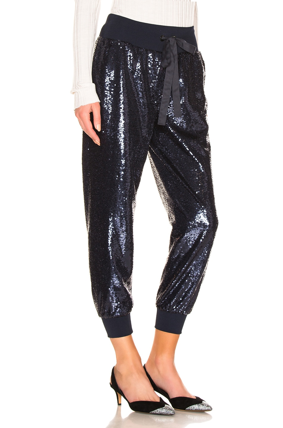 Image 2 of Cinq a Sept Sequin Giles Pant in Navy