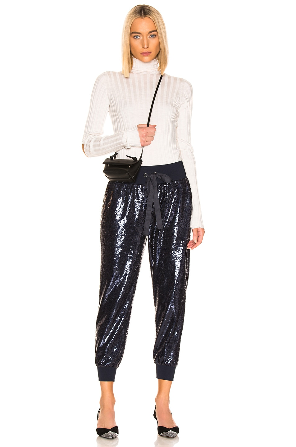 Image 4 of Cinq a Sept Sequin Giles Pant in Navy