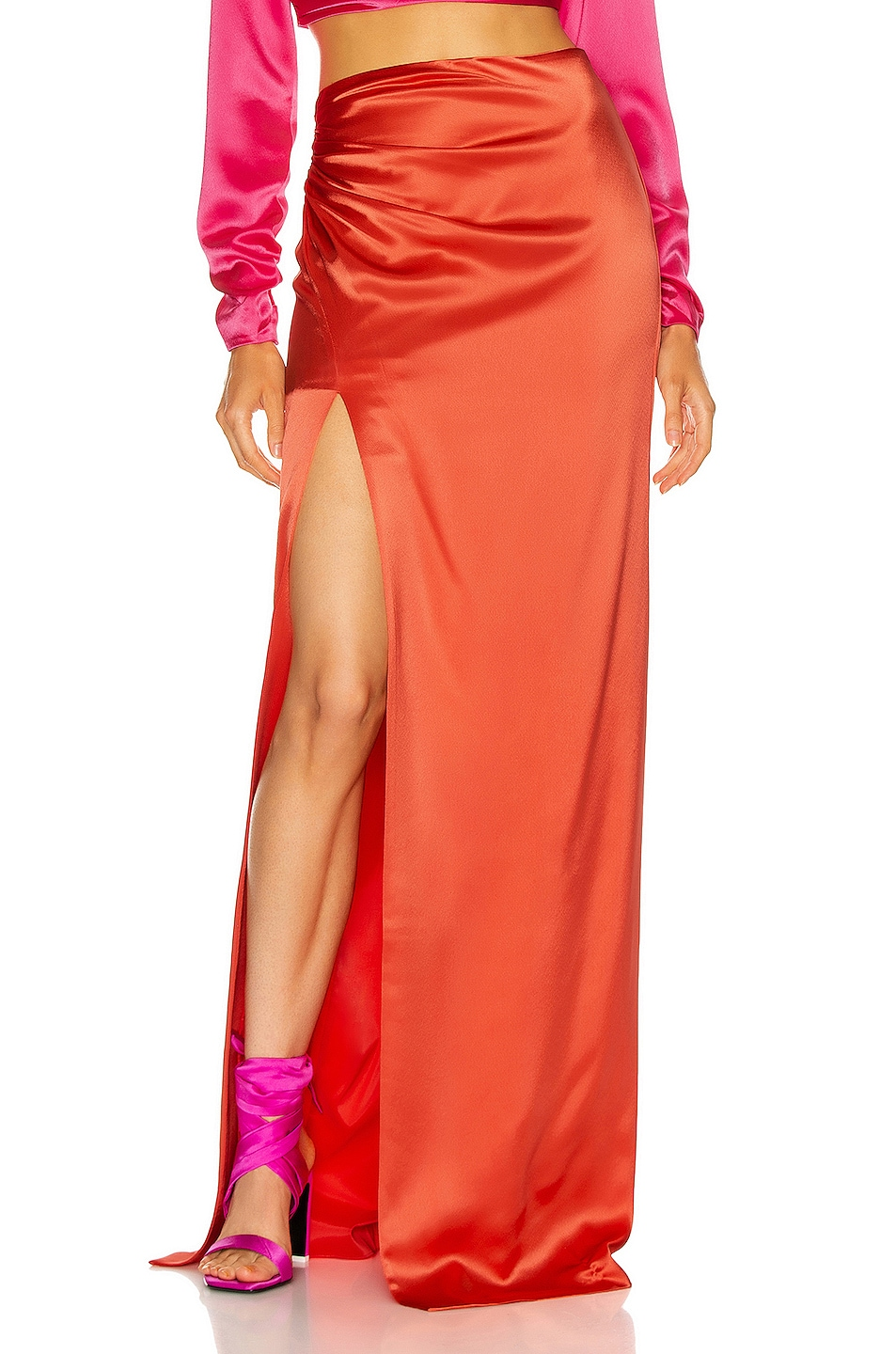 Image 1 of Cinq a Sept Kaitlyn Skirt in Pomelo Red