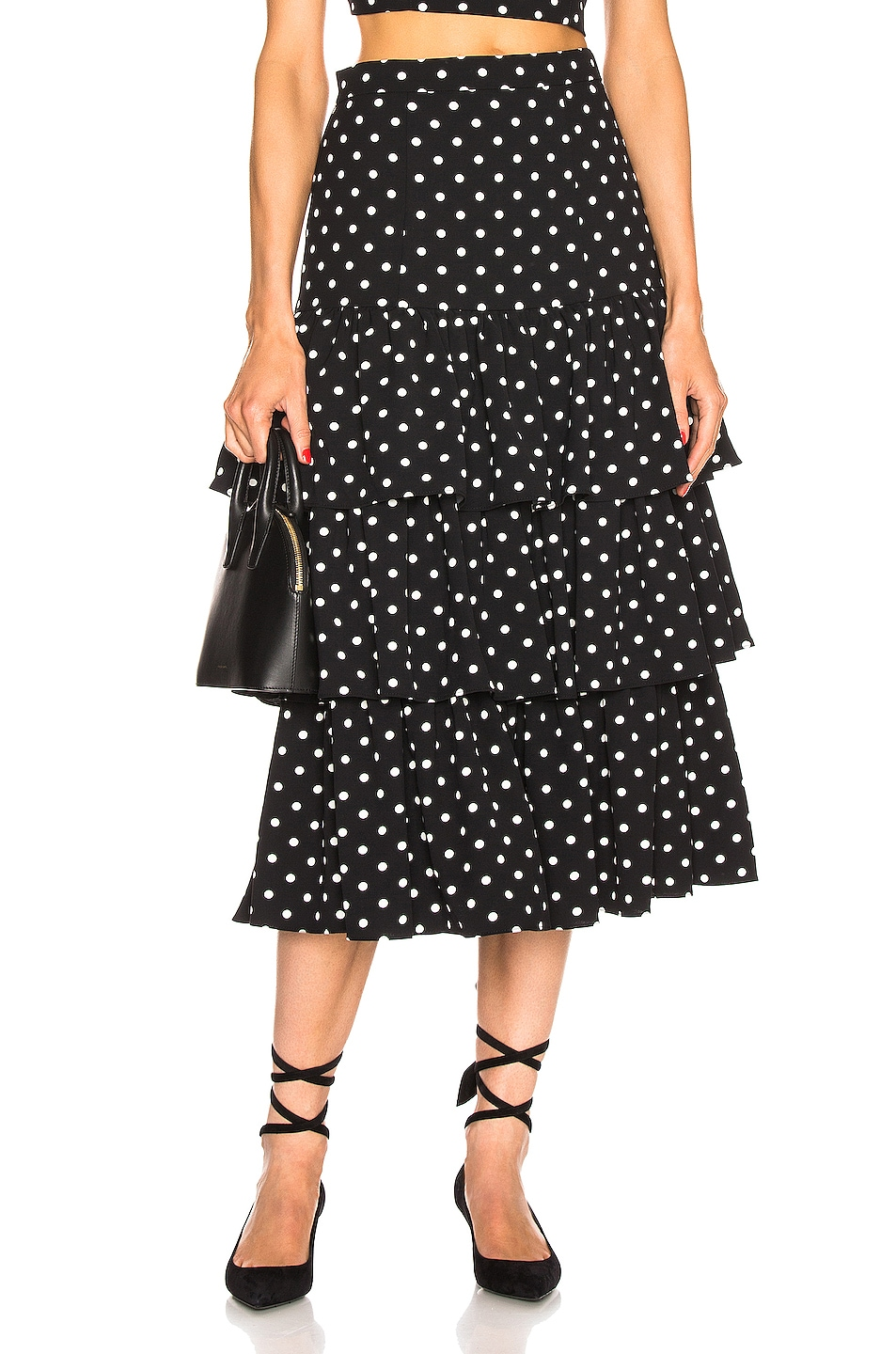 Image 1 of Cinq a Sept Rowena Skirt in Black & White