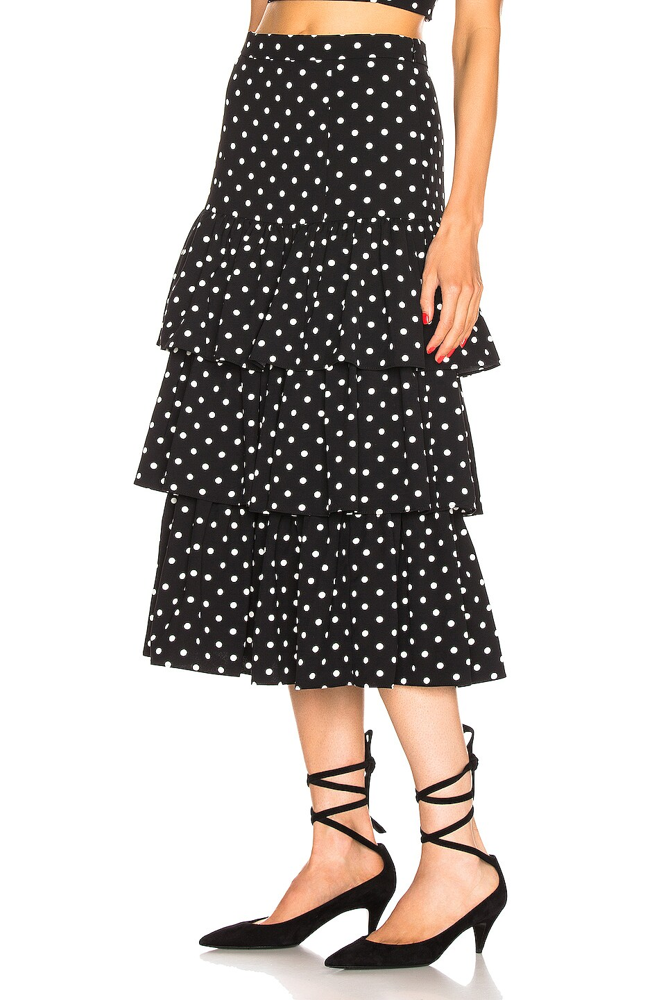 Image 3 of Cinq a Sept Rowena Skirt in Black & White