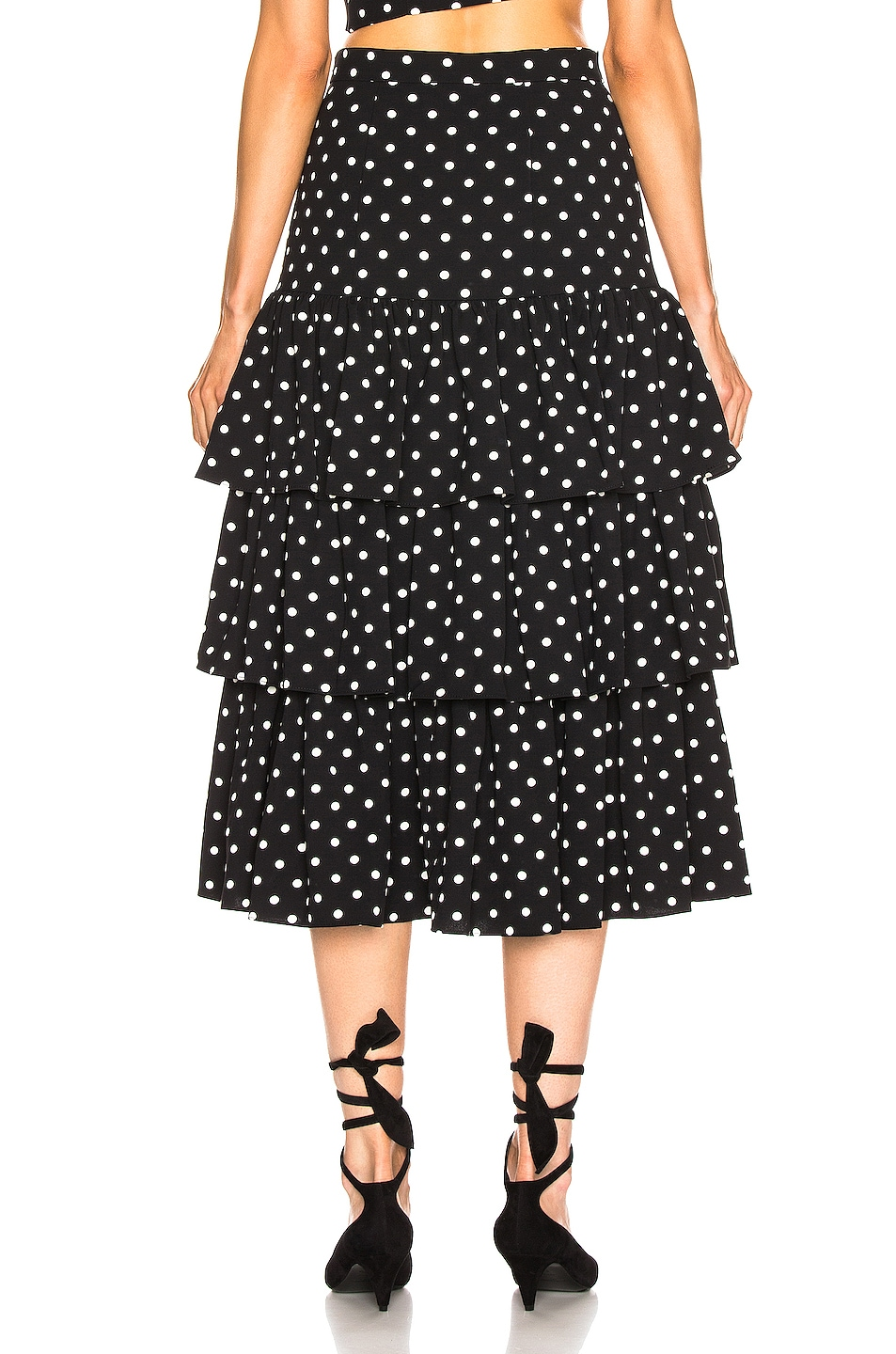 Image 4 of Cinq a Sept Rowena Skirt in Black & White
