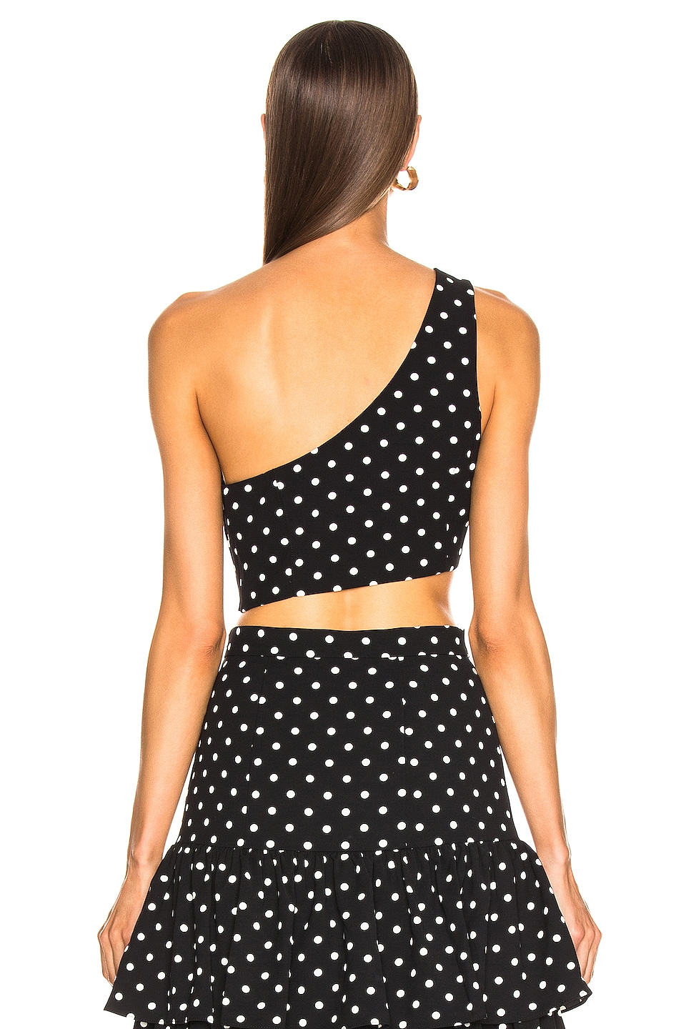 Image 4 of Cinq a Sept Dotted Maayan Top in Black & White