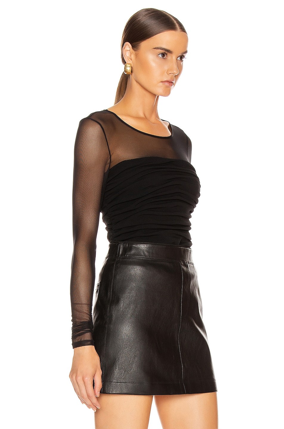 Image 2 of Cinq a Sept Zephyr Top in Black