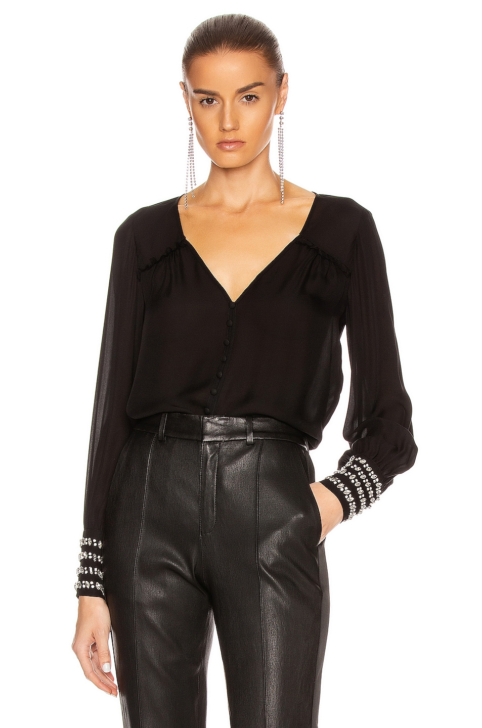 Image 1 of Cinq a Sept Amanda Top in Black