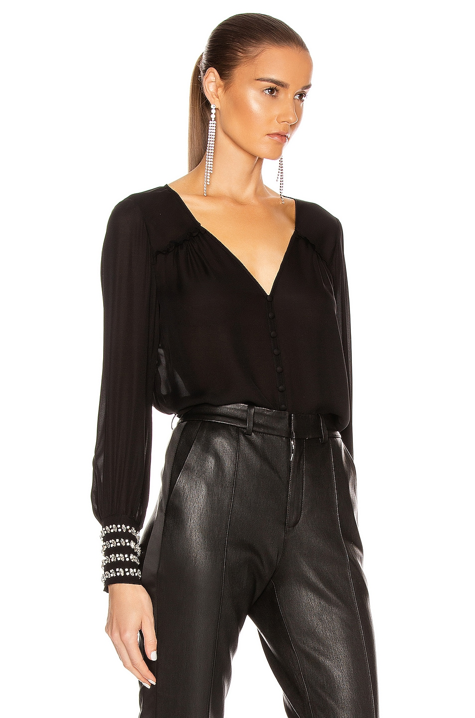 Image 2 of Cinq a Sept Amanda Top in Black