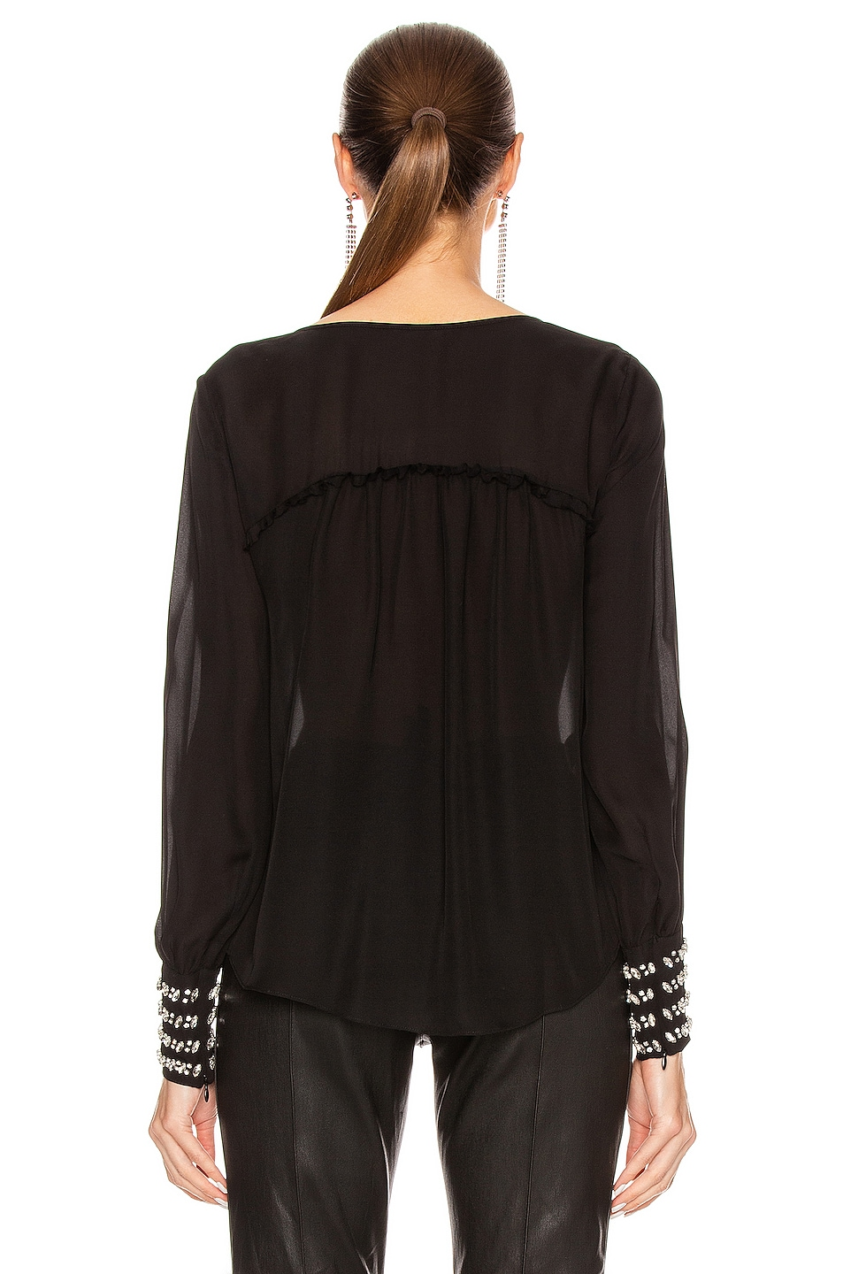 Image 3 of Cinq a Sept Amanda Top in Black