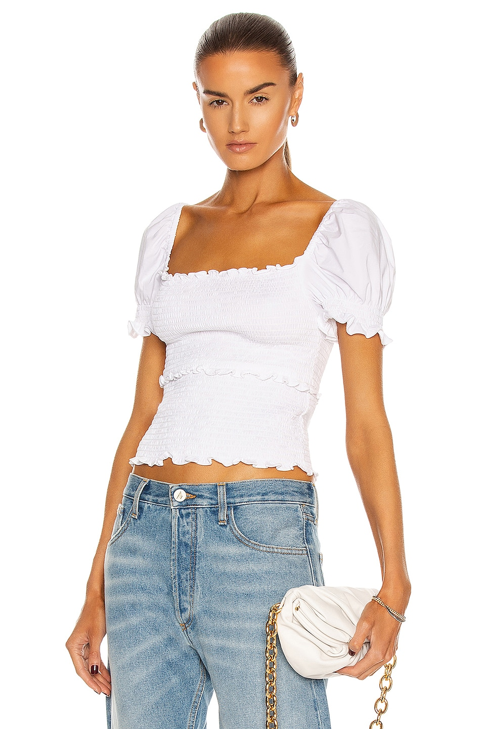 Image 1 of Cinq a Sept Lillie Top in Ivory