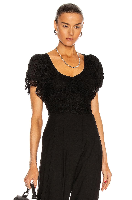 Image 1 of Cinq a Sept Taylor Bodysuit in Black