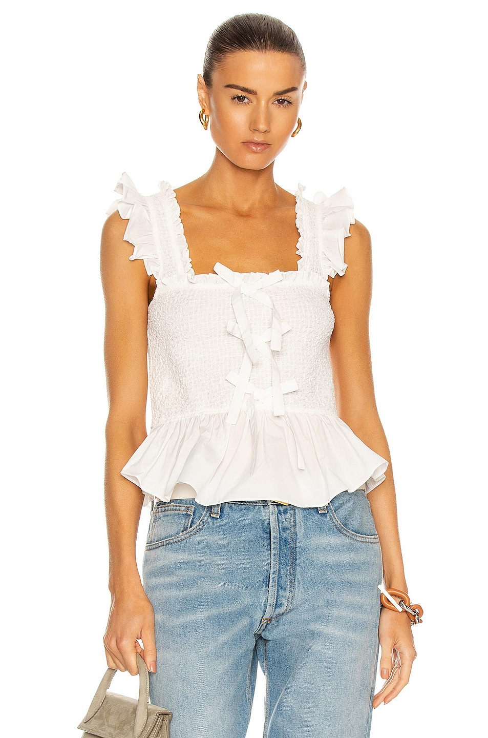 Image 1 of Cinq a Sept Dorothy Top in White