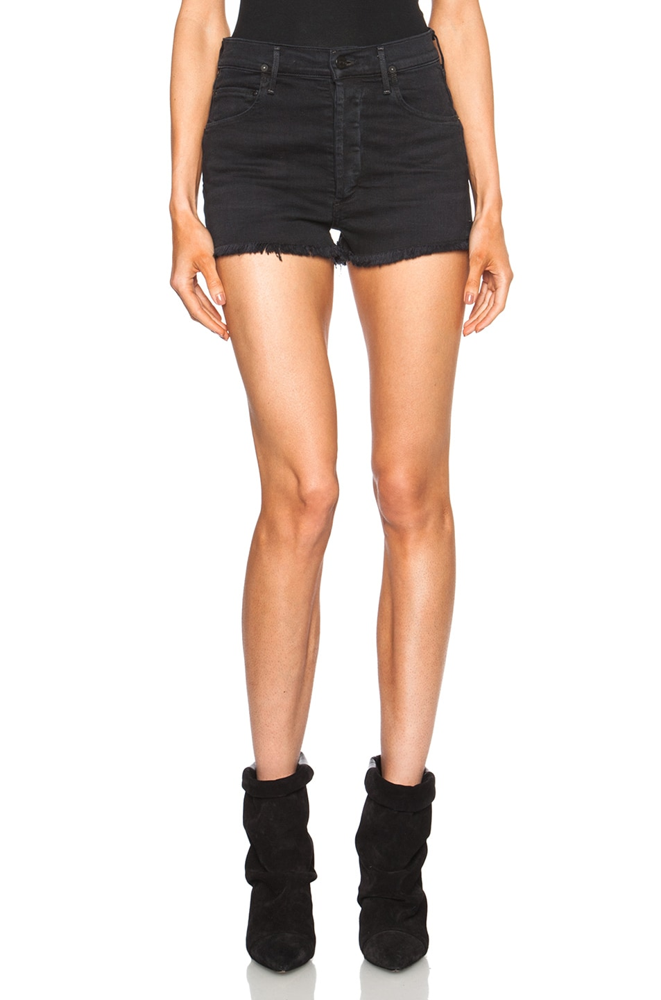 Image 1 of Citizens of Humanity Chloe High Waisted Short in Goth