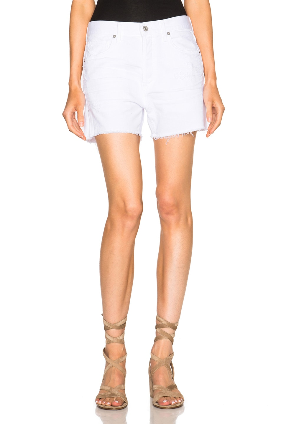 Image 1 of Citizens of Humanity Corey Shorts in Distressed White