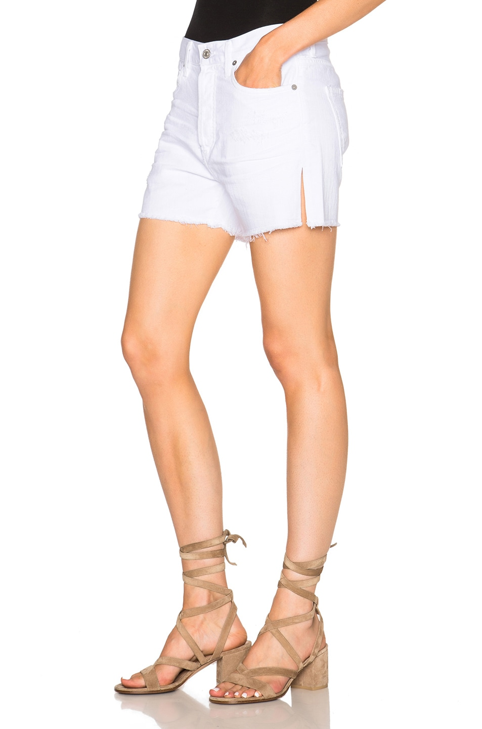 Image 2 of Citizens of Humanity Corey Shorts in Distressed White