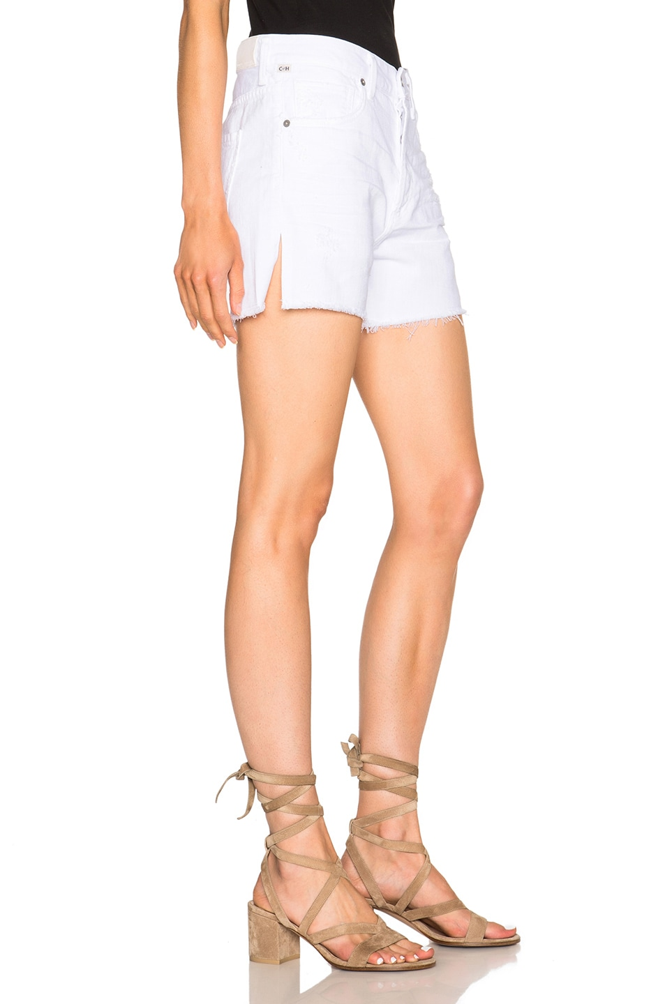 Image 3 of Citizens of Humanity Corey Shorts in Distressed White