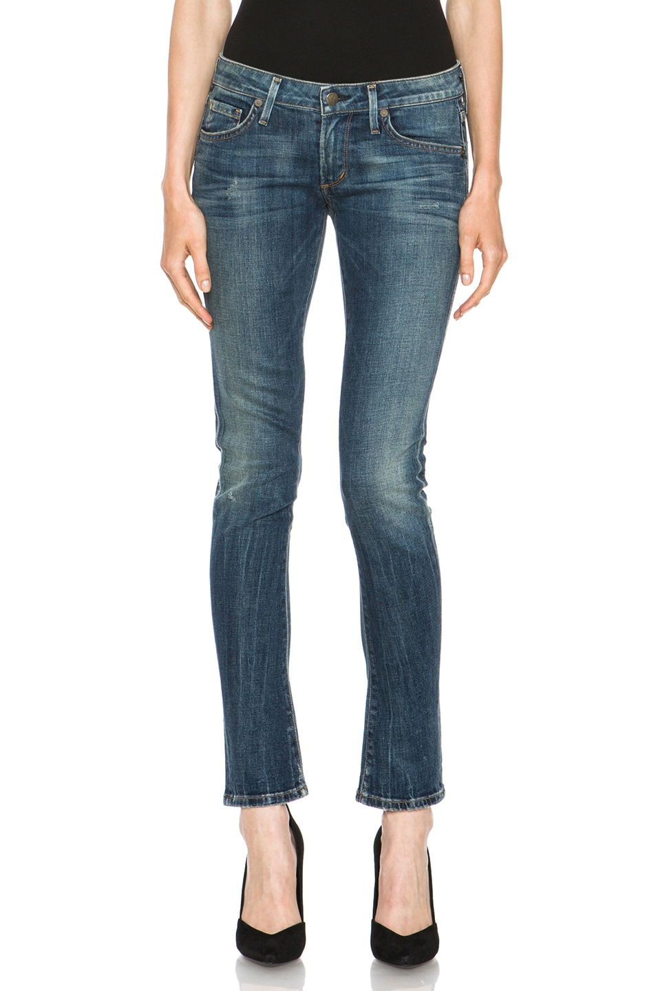 520e768e482f Image 1 of Citizens of Humanity Racer Low-Rise Skinny in Slash