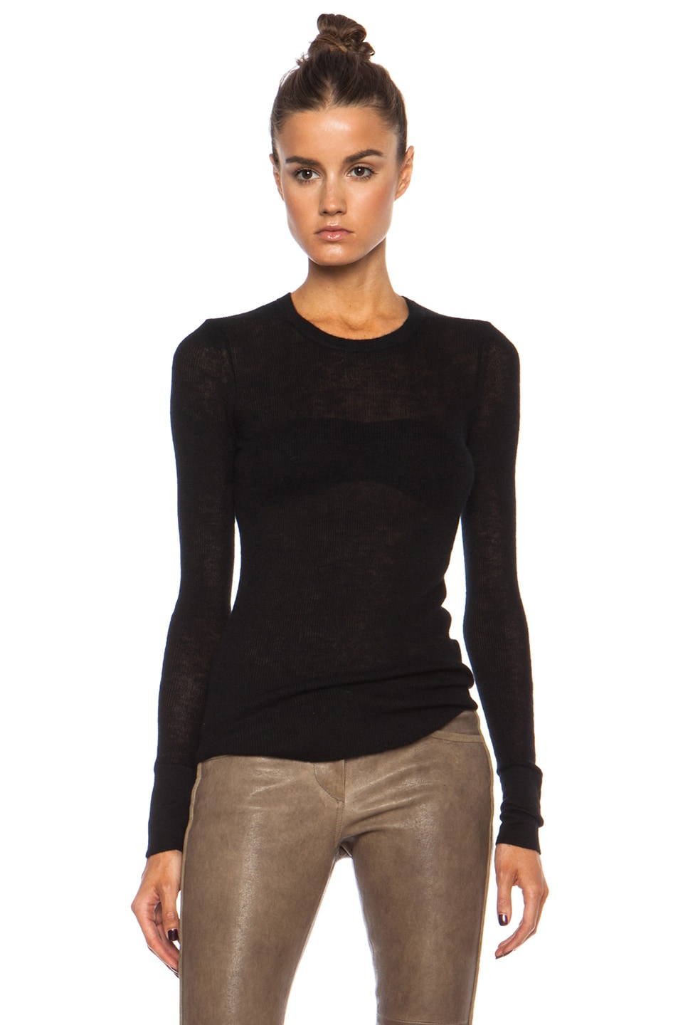 Image 1 of Citizens of Humanity Cashmere Thermal in Black