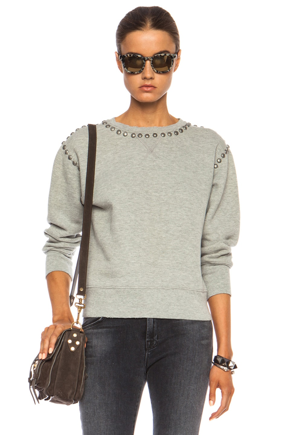 Image 1 of Citizens of Humanity Premium Vintage Camryn Sweatshirt in Studded Heather