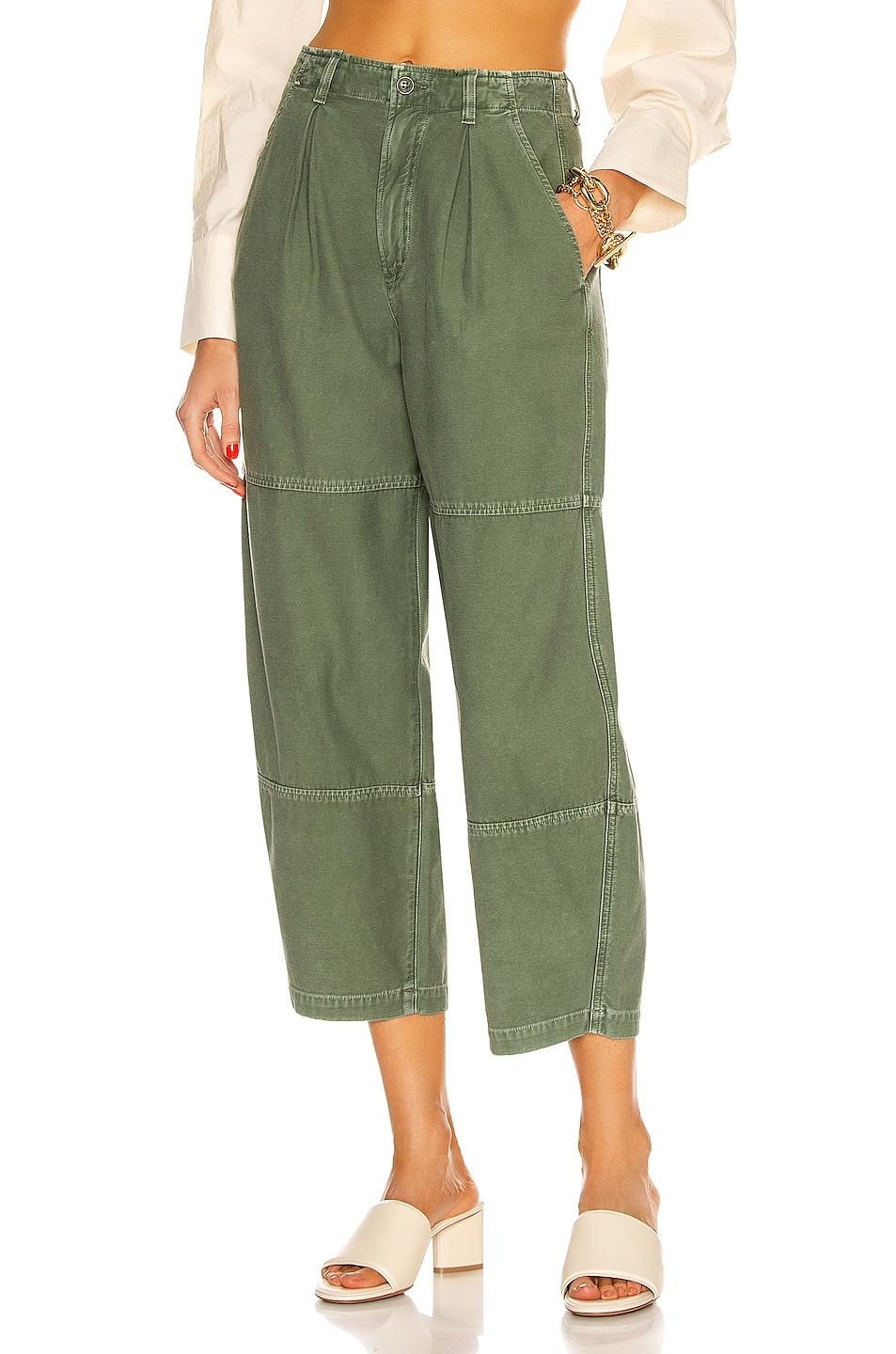 Image 1 of Citizens of Humanity Hadley Curved Surplus Pant in Celedon
