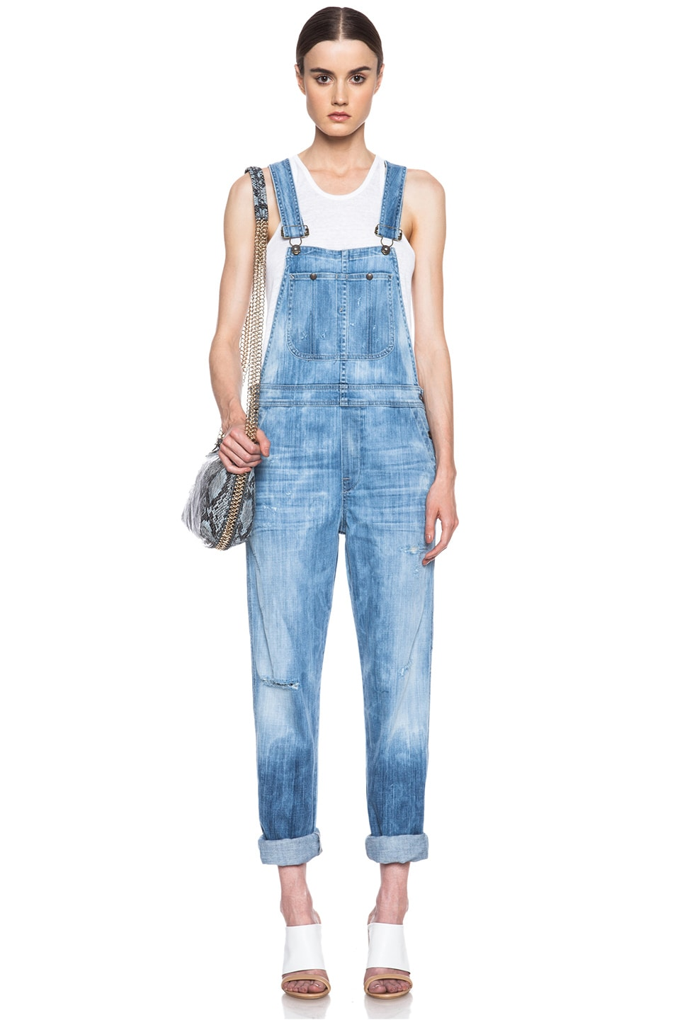 Image 1 of Citizens of Humanity Quincey Overalls in Sun Bleach