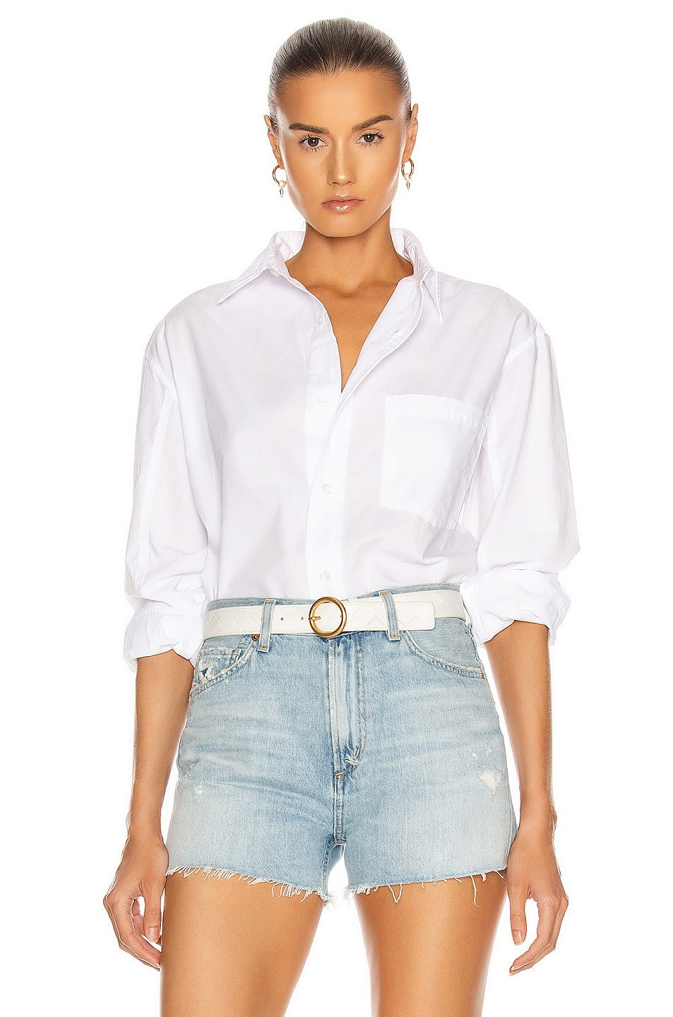Image 1 of Citizens of Humanity Kayla Shirt in Optic White