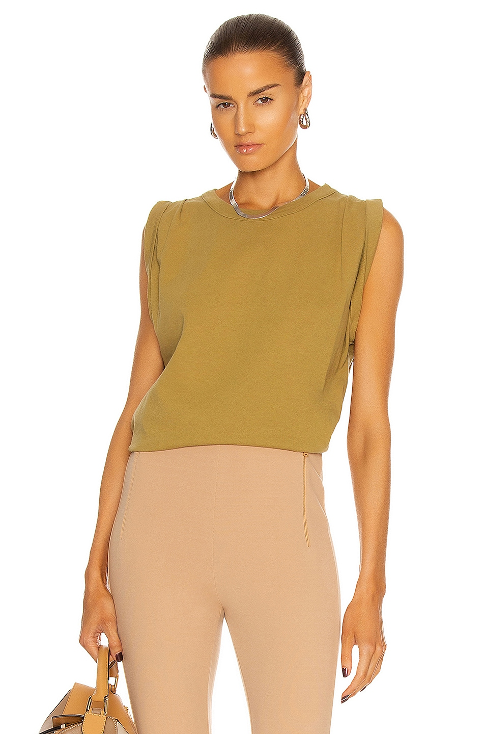 Image 1 of Citizens of Humanity Jordana Rolled Sleeve Tee in Sunbaked