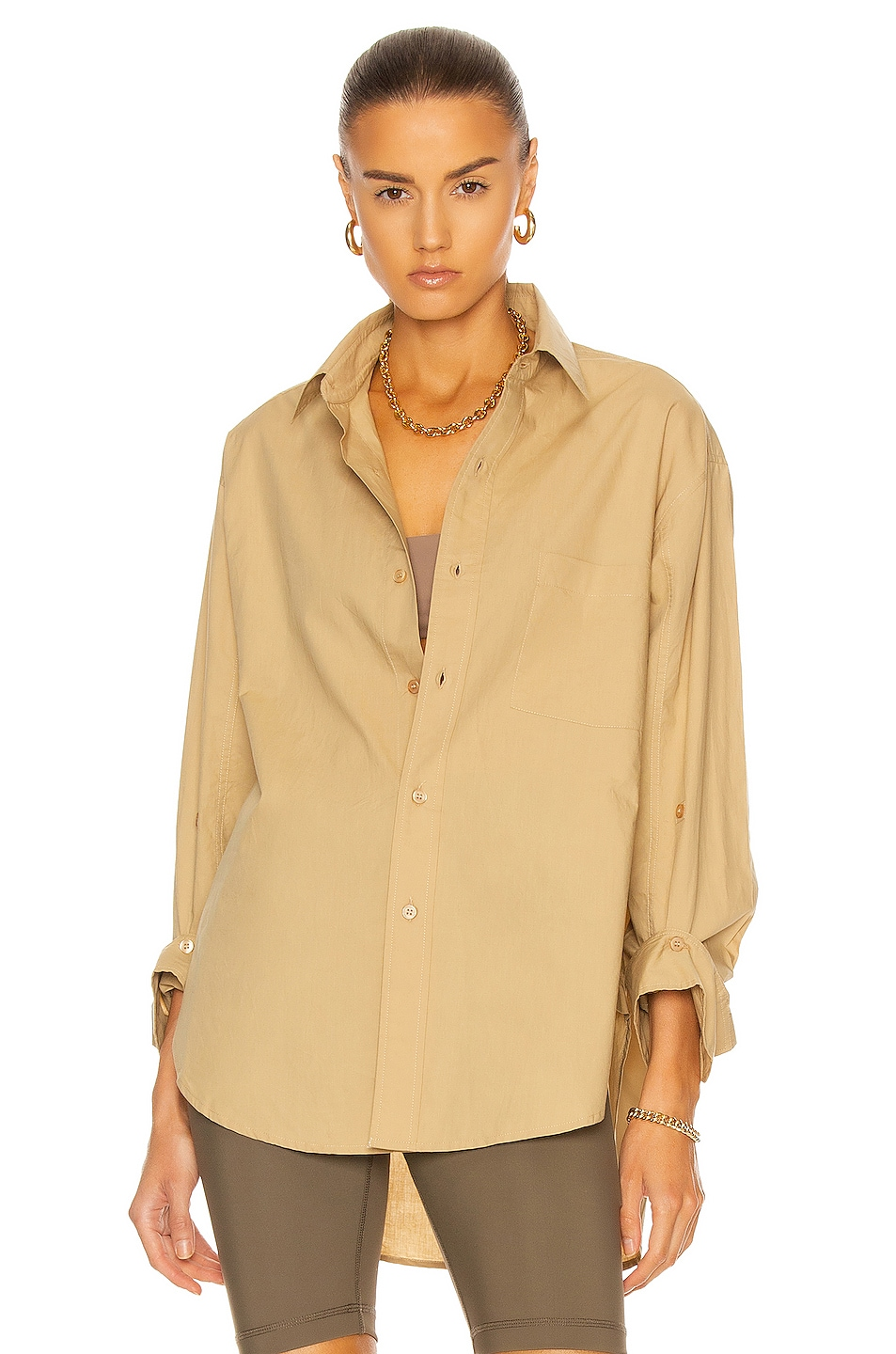 Image 1 of Citizens of Humanity Kayla Shirt in Rattan