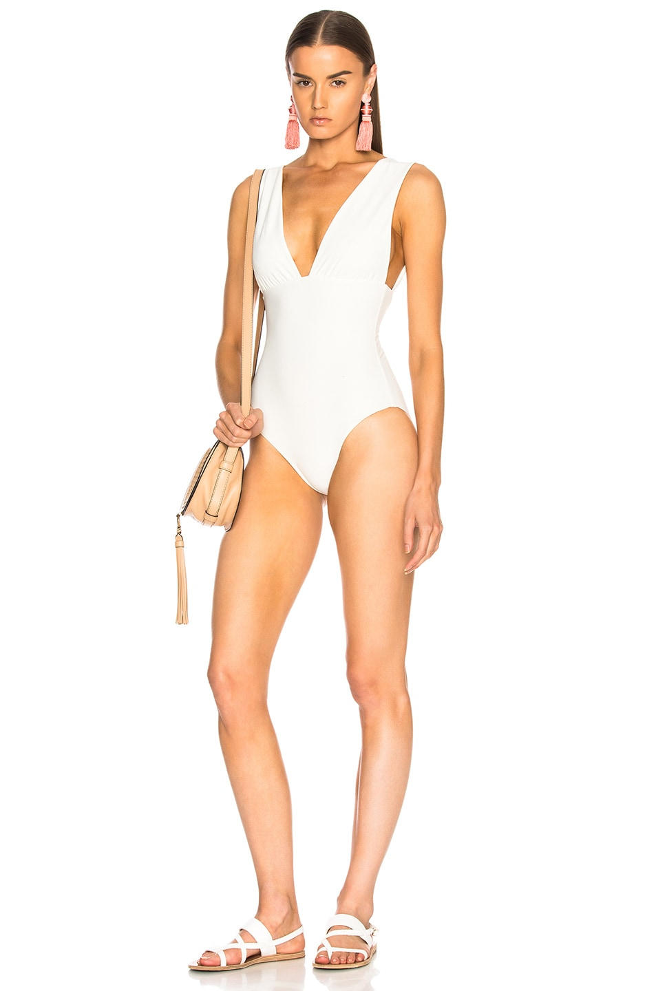 CALI DREAMING GROVE SWIMSUIT IN WHITE
