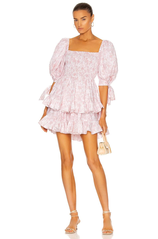 Image 1 of Caroline Constas Finley Dress in Blush