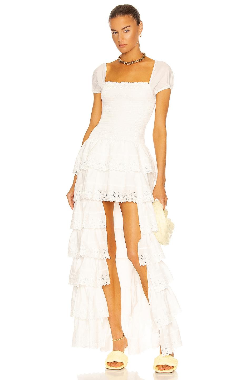 Image 1 of Caroline Constas Keegan Dress in White