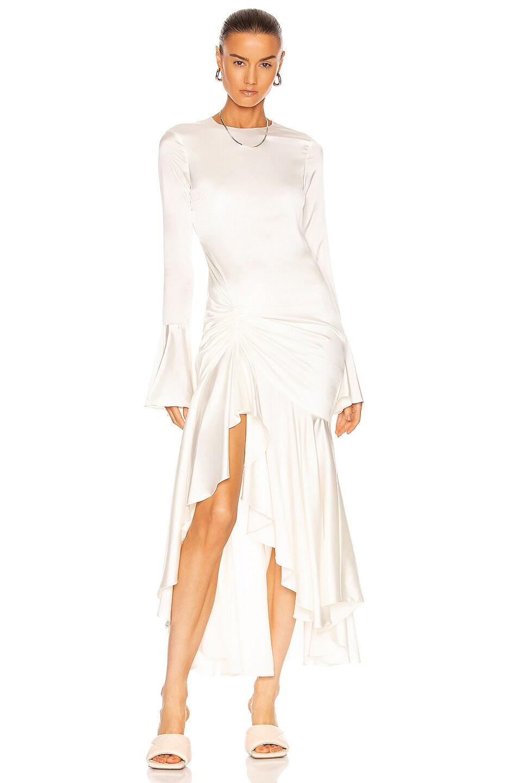 Image 1 of Caroline Constas Monique Midi Dress in White