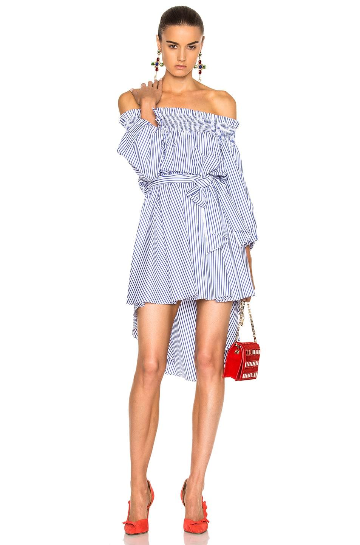 5f3696633de5d Image 1 of Caroline Constas Lou Dress in Royal Blue