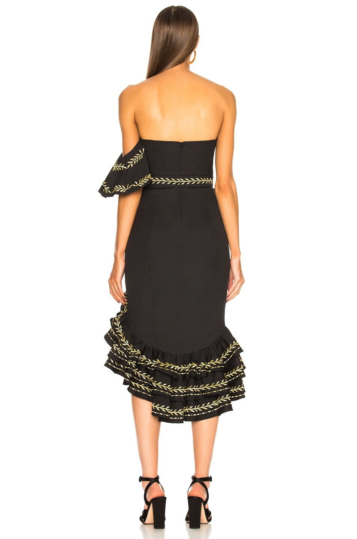 Image 4 of Caroline Constas Cam Dress in Black & Gold