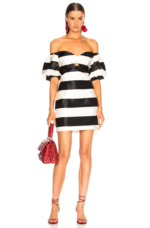 Image 1 of Caroline Constas Titos Dress in Black & White