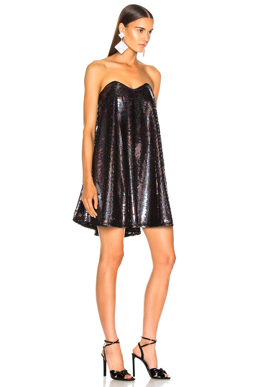 Image 2 of Caroline Constas Gab Dress in Black