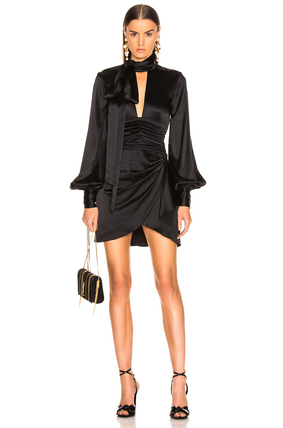 Image 1 of Caroline Constas Lana Dress in Black