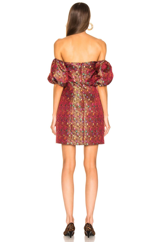 Image 3 of Caroline Constas Titos Dress in Red Multi