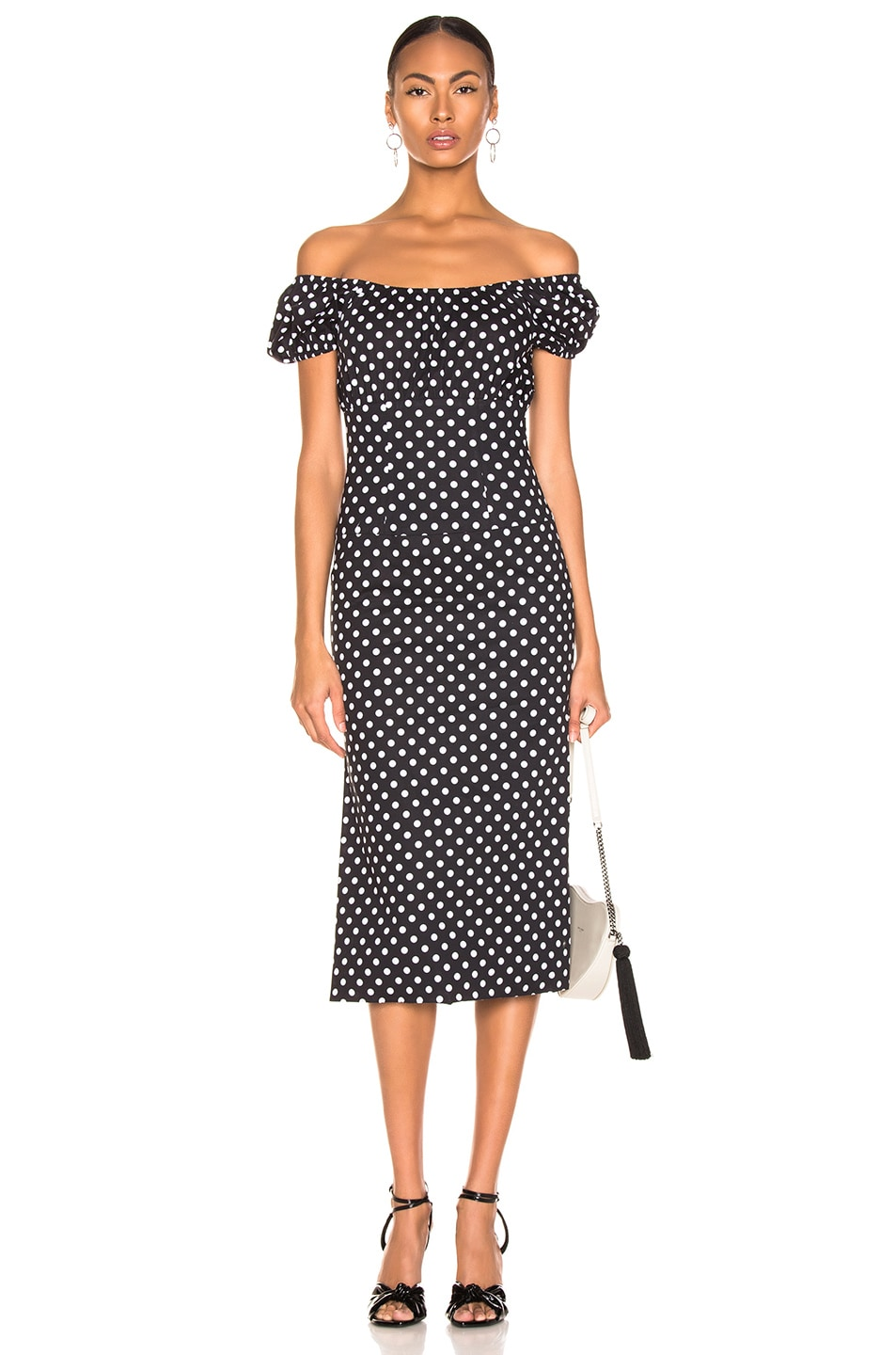 abe4a7c1ef56 Image 1 of Caroline Constas Calla Dress in Black & White