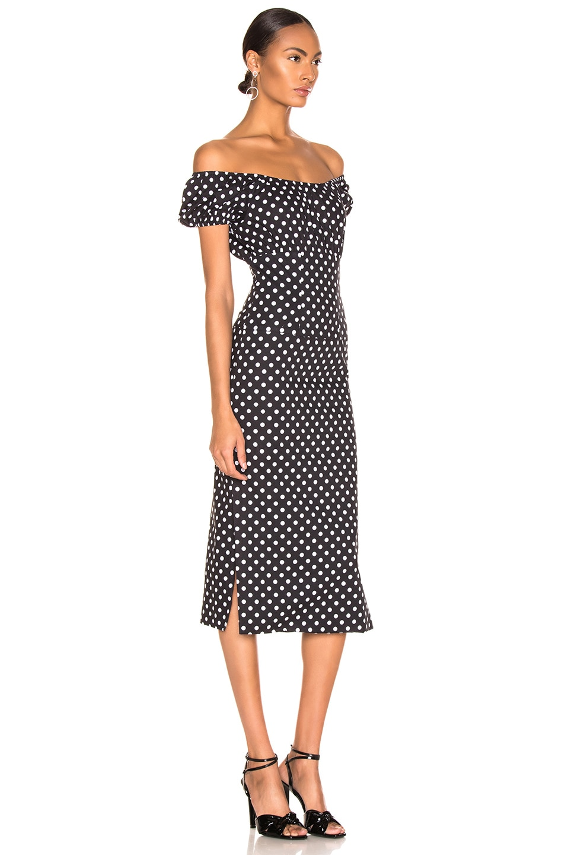 Image 3 of Caroline Constas Calla Dress in Black & White