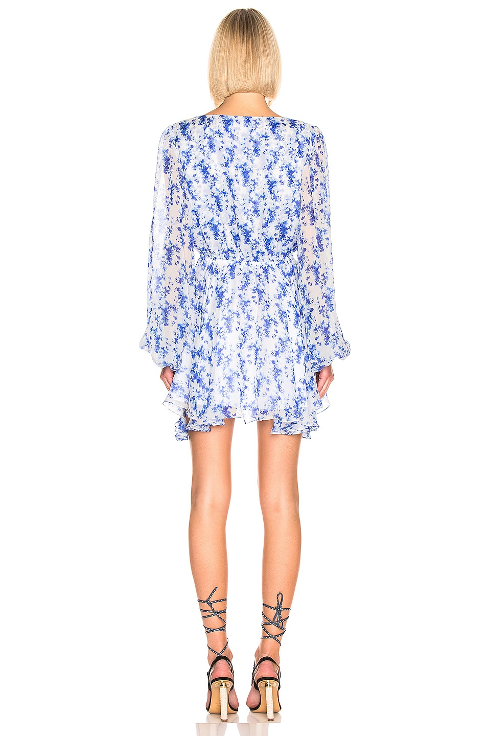 Image 3 of Caroline Constas Olena Dress in Blue & White